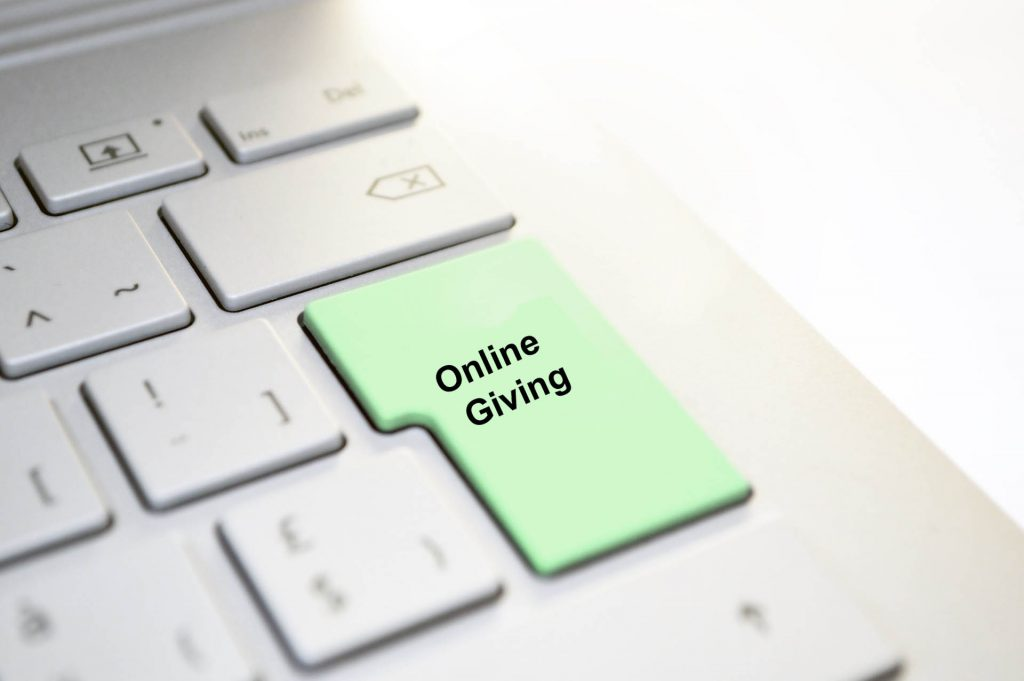 keyboard with Online Giving key