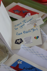 Cards made for veterans
