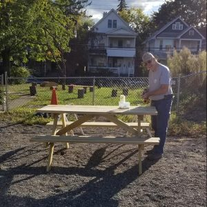 Making a picnic table